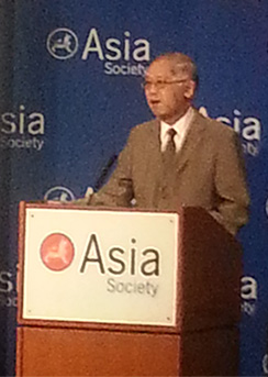 Cao O. Speaking at the Asia Society