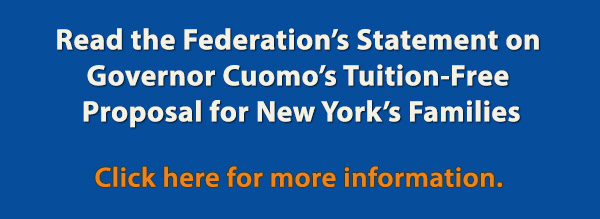 Federation's Statement on Governor Cuomo's Tuition-Free Proposal for New York's Families Banner image